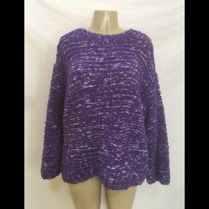 NWT Sz XS/S Purple/Lavender Oversized Knit Sweater